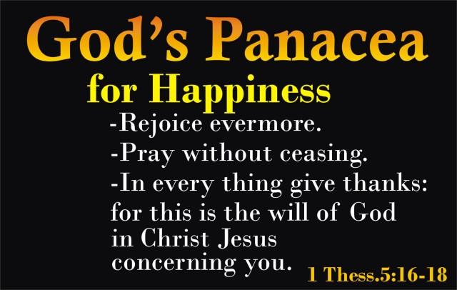 Panacea for peace
